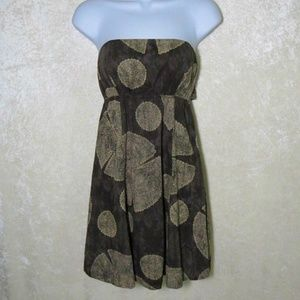 Free People Batik Strapless Tie Dress Shirred Back